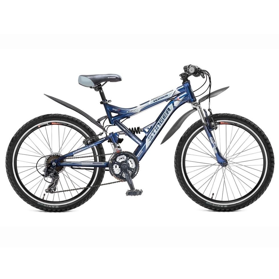 "Велосипед Stinger 24"" Х60855 Версус аморт. 21ск. рама 16.5д. сине-серый"