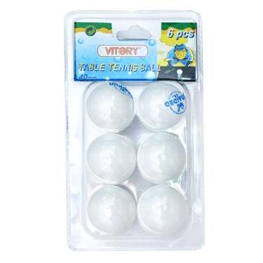 Мячик н/т Vitery белый со швом 6 шт в блистере (цена за штуку) 11784