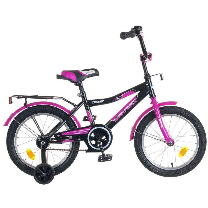 "Велосипед Novatrack 16"" Х50277 Космик ножн.торм, хром.крыл,багаж черный"