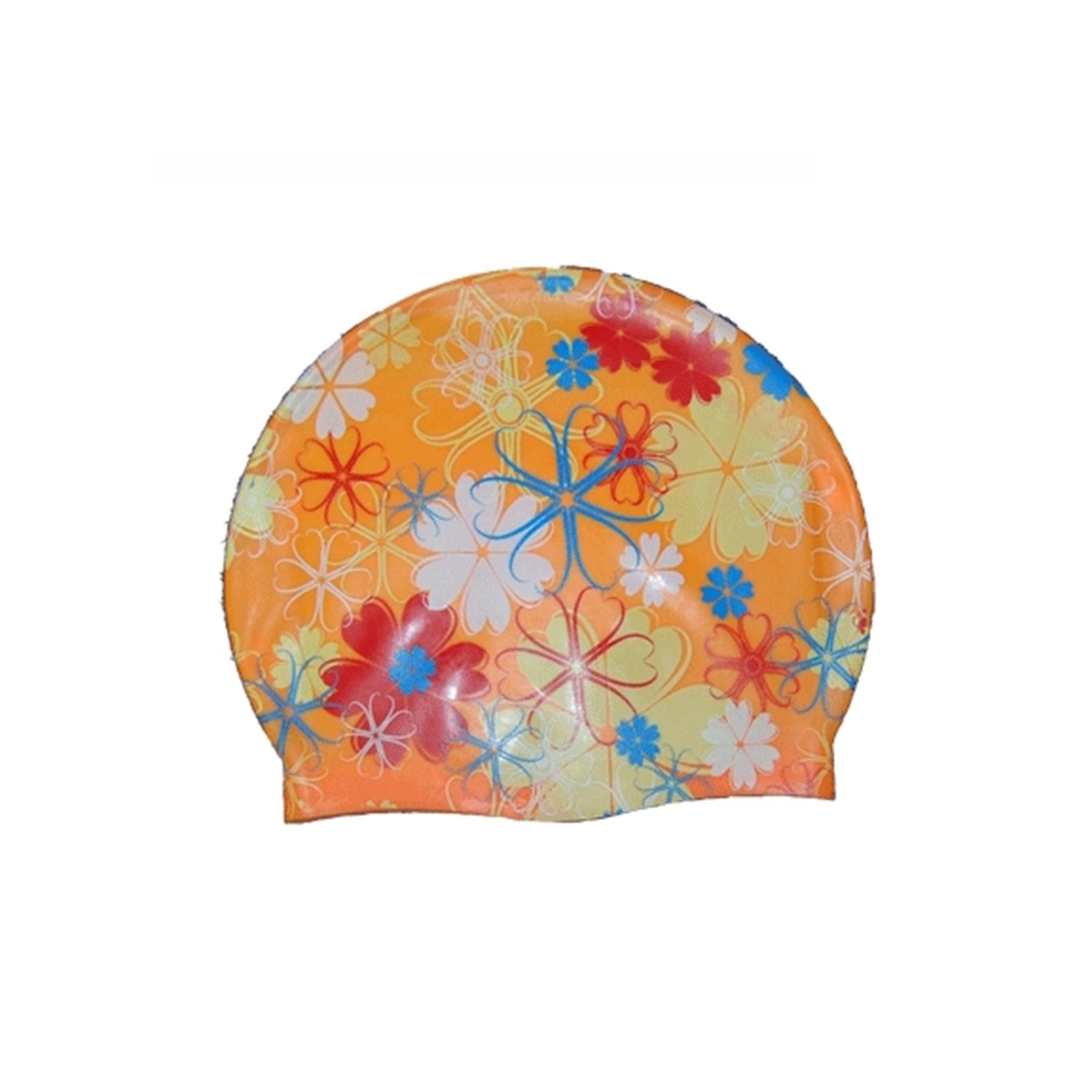 Шапочка BF силикон, рисунок цветы 06317