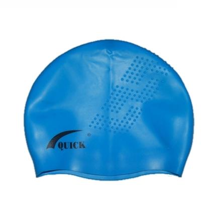 Шапочка 3D силикон взрослая с шипами QB 06327 голубая