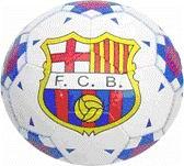 Мяч ф/б 200 ABCD Club Barselona белый с красн/син рис