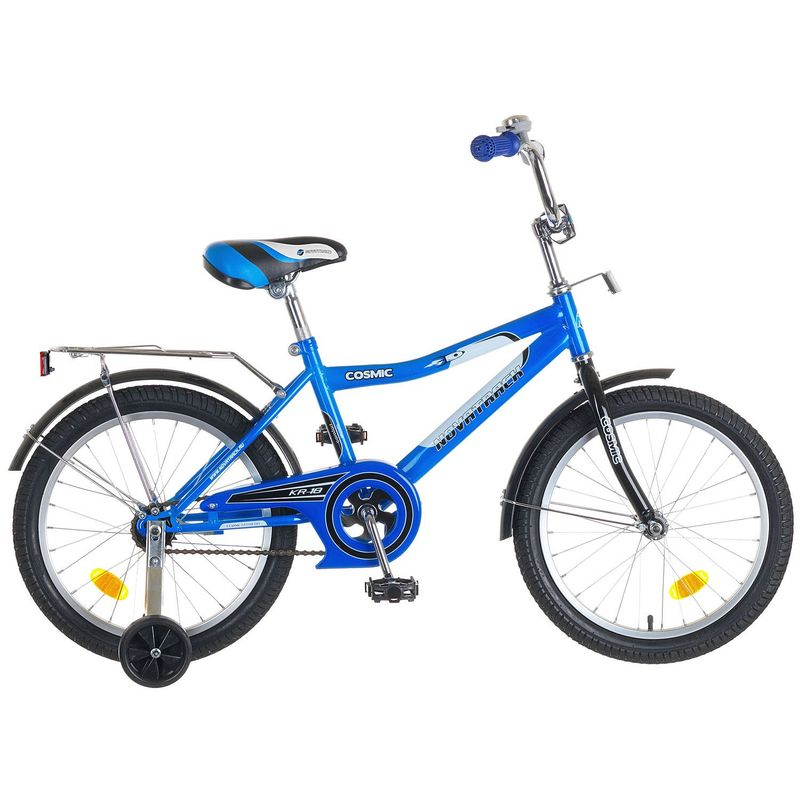 """Велосипед Novatrack 18"""" Х50282 Космик ножн.торм хром.багаж сине-черный"""