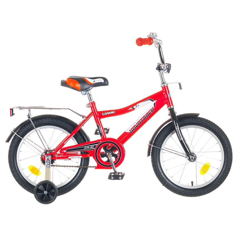 "Велосипед Novatrack 16"" Х50275 Космик ножн.торм, хром.крыл,багаж красный"