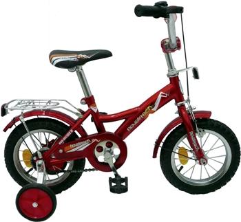 """Велосипед Novatrack 12"""" Х24567 М-тип руч,нож.торм, хром.крыл,багаж красно-черный АКЦИЯ!!!"""