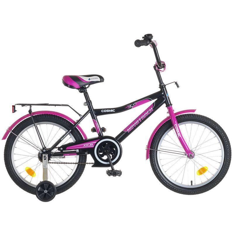 """Велосипед Novatrack 18"""" Х50283 Космик ножн.торм черно-фиолетовый"""