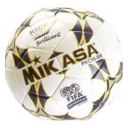 Мяч ф/б Микаса PKC 55 BR-2 №5 (сине-белый) ручная сшивка,матовая синтетическая кожа