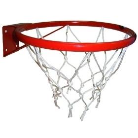 Кольцо баскетбольное d=380 mm с сеткой усил. ЛЮКС №5 т