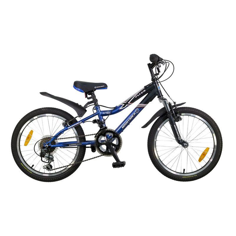 "Велосипед Novatrack 20"" Х52105 Флайер 12 ск. стал.рама V-brake сине-серый"
