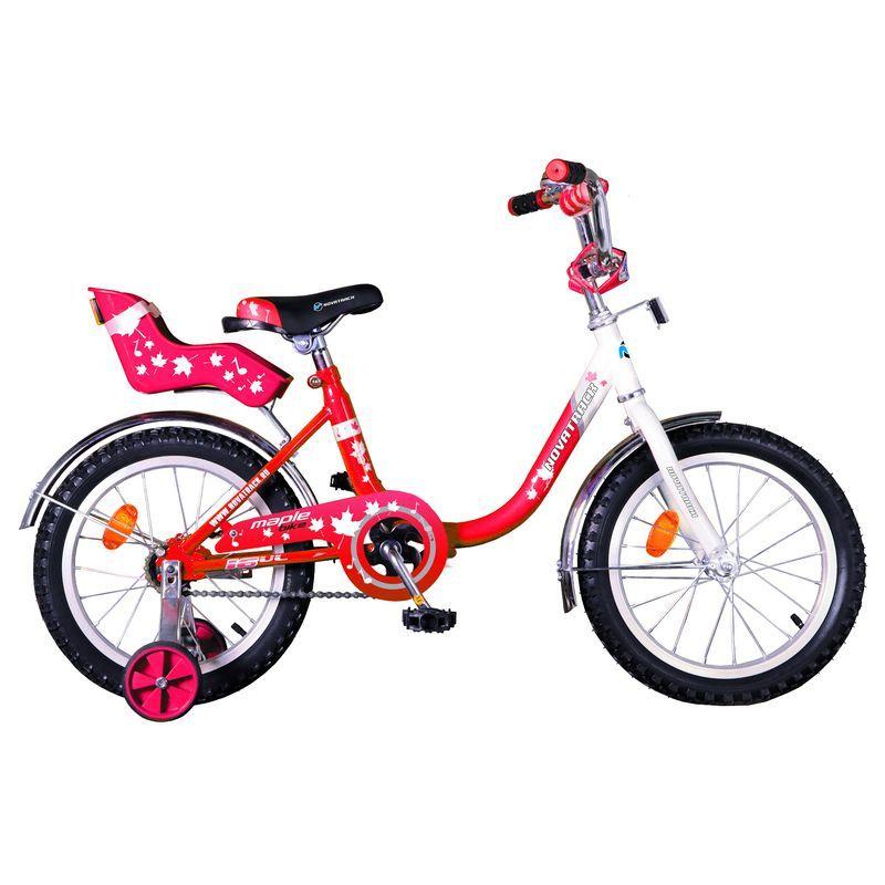 """Велосипед Novatrack 12"""" Х32040 UL-тип руч,ножной торм, хром.крыл,багаж красный АКЦИЯ!!!"""