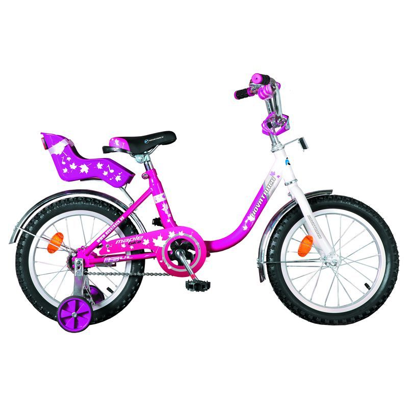 """Велосипед Novatrack 12"""" Х32042 UL-тип руч,ножной торм, хром.крыл,багаж сиреневый АКЦИЯ!!!"""