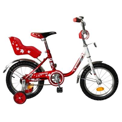 "Велосипед Novatrack 14"" Х32043 UL-тип нож,руч торм, хром.крыл,багаж красный"