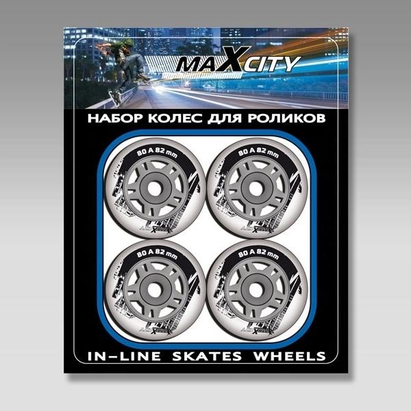 Колеса для роликов 4 шт/уп  Max City LV-W 82мм ПУ