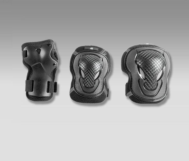 Комплект защиты роликовый CLIFF YD-0024 р.M черный