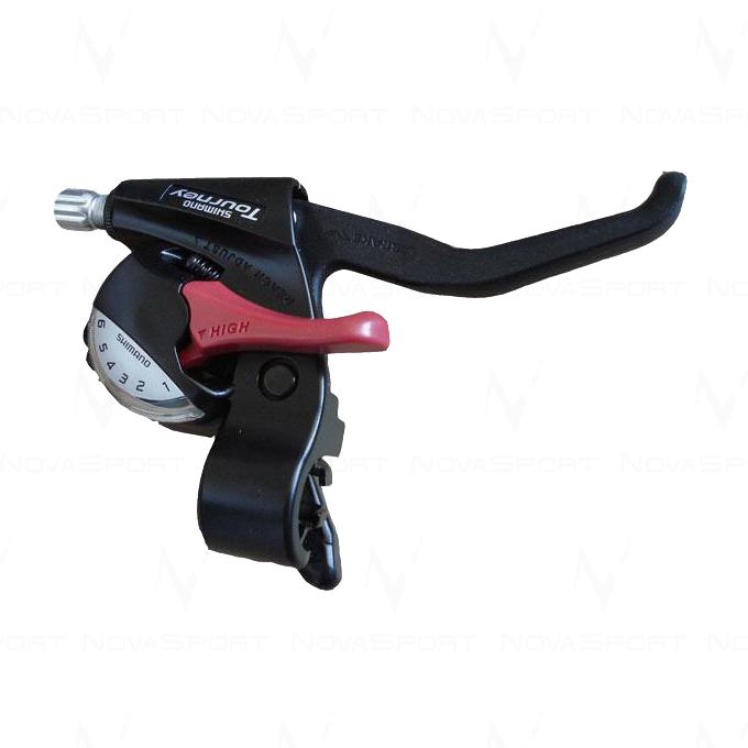 Шифтер/торм. ручка Shimano EF-41 лев 3ск 1800мм,черн. ASTEF41LBL