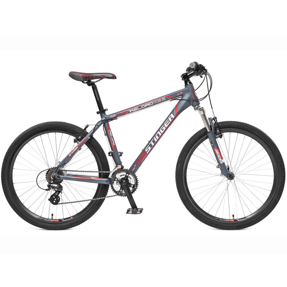 "Велосипед Stinger 26"" Х31319 Релоад XR' 2.1 алюм. 21ск. рама 18д. V-брейк торм. дв.обода серо-красн"
