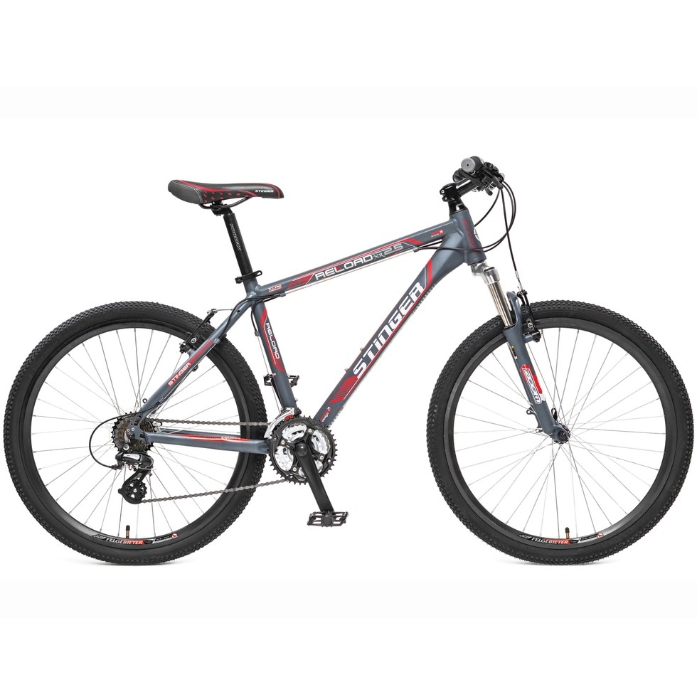 "Велосипед Stinger 26"" Х31474 Релоад XR' 2.1 алюм. 21ск. рама 19,5д. V-брейк торм. дв.обода серо-крас"