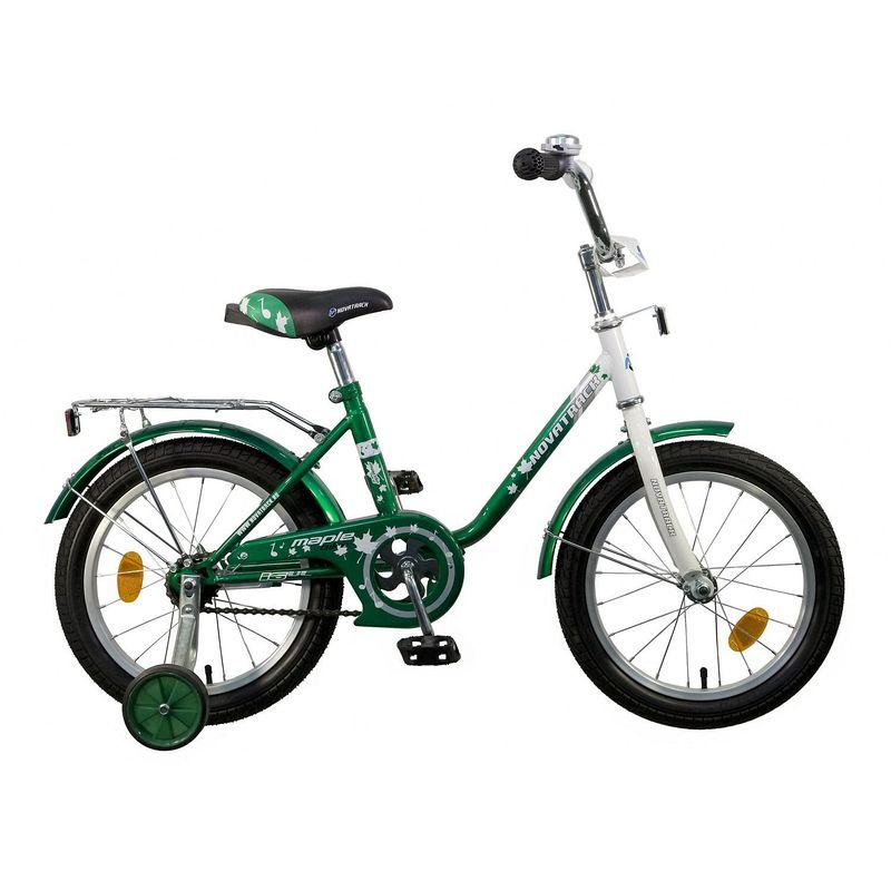 "Велосипед Novatrack 16"" Х32085 UL-тип нож.торм,хром.багаж зелено-белый"