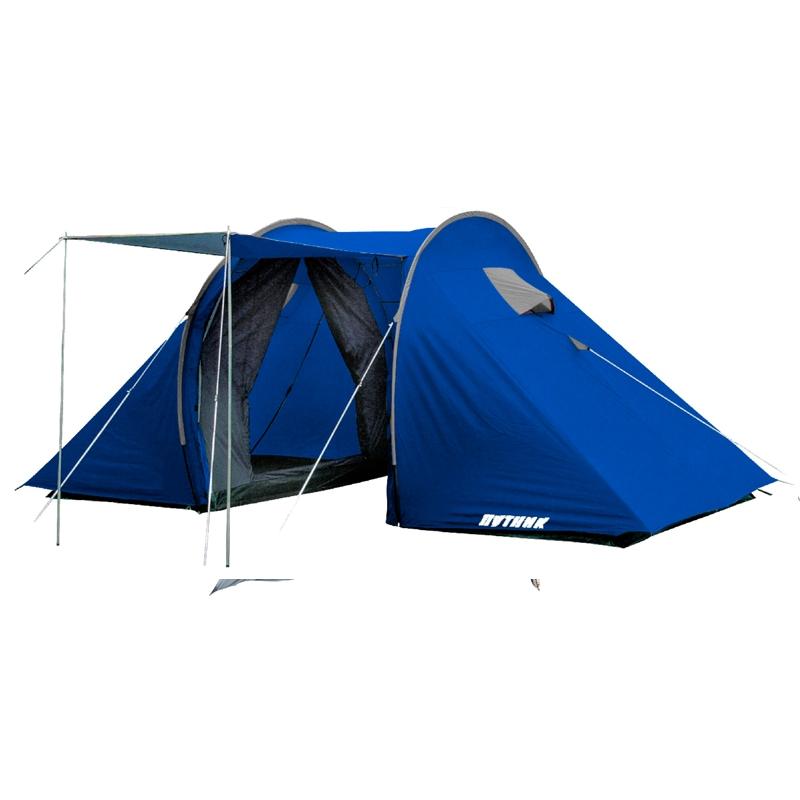 Палатка Фемида 4 арт.РТ-124-4  (двухсл., водост.2000мм, 440*210*170см, 2-х комн., тамбур 120*210см)