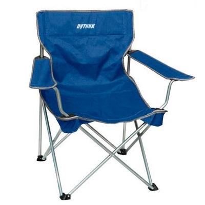 """Кресло """"Путник"""" арт. РС-010В с подлокотн. синее нагр.до100кг 60*46*41/87 см, 3,9 кг сталь/полиэстр"""