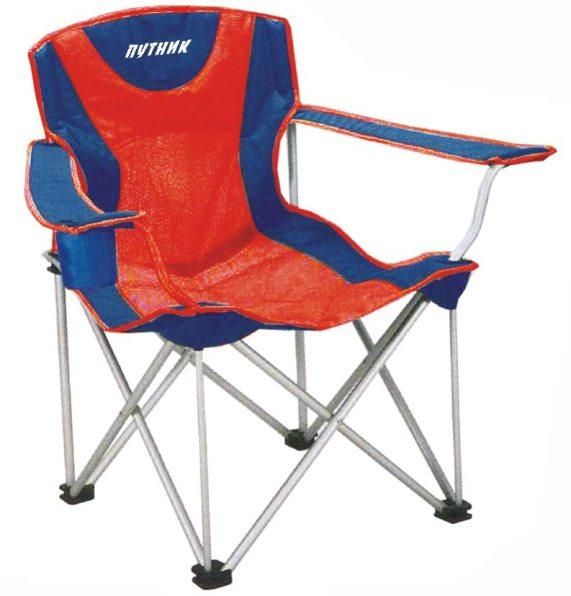 """Кресло """"Путник"""" арт. РС-030R с подстакан. красн/синее нагр.до100кг 60*46*41/87 см, 3,8 кг сталь/поли"""