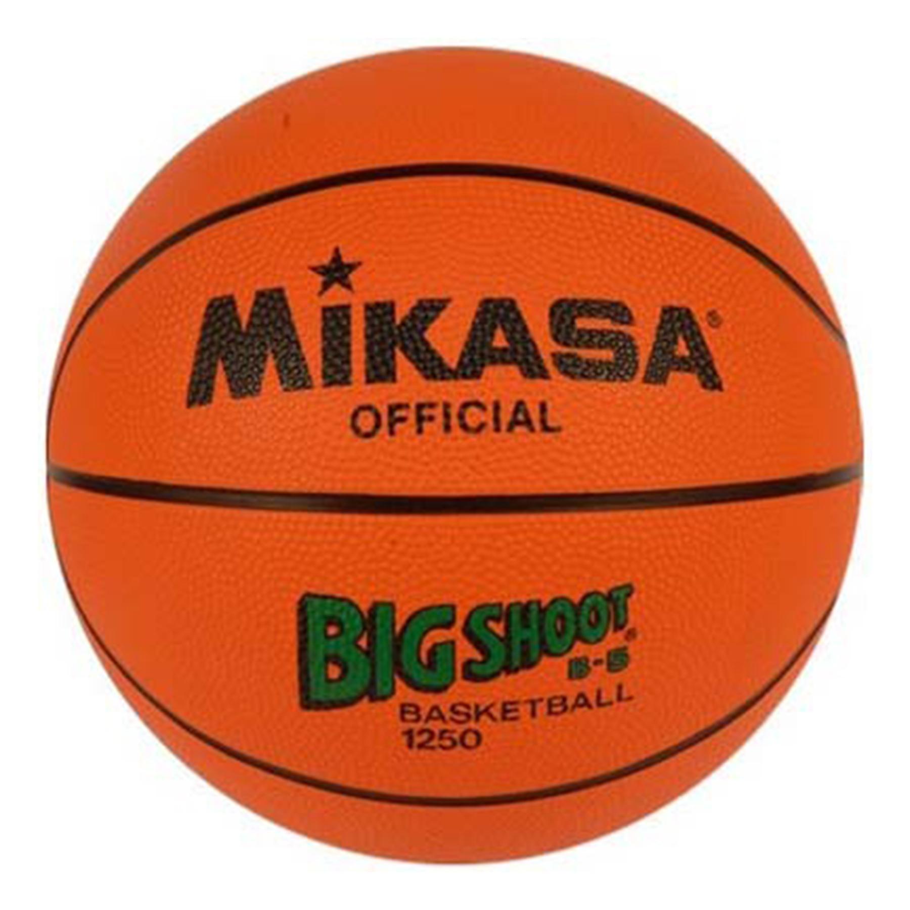 Мяч б/б Микаса 1250 резиновый № 5 игровой и трениров мяч для школ,утвержден FIBA