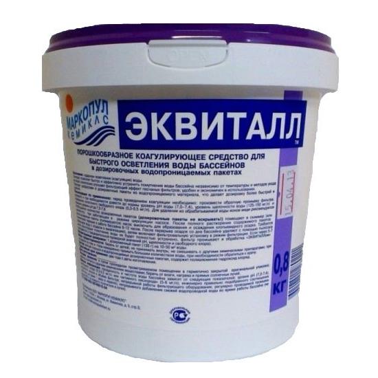 "Хим. препарат ""Эквиталл"" порошок ведро 0,8 кг (от помутнения)"