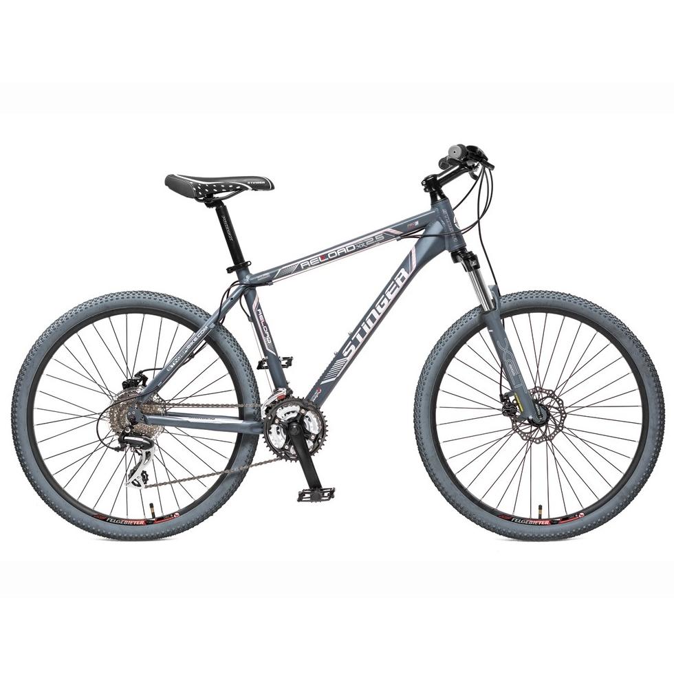 "Велосипед Stinger 26"" Х31477 Релоад XR' 2.5 алюм. 21ск. рама 16д. 2диск.торм. дв.обода серый"