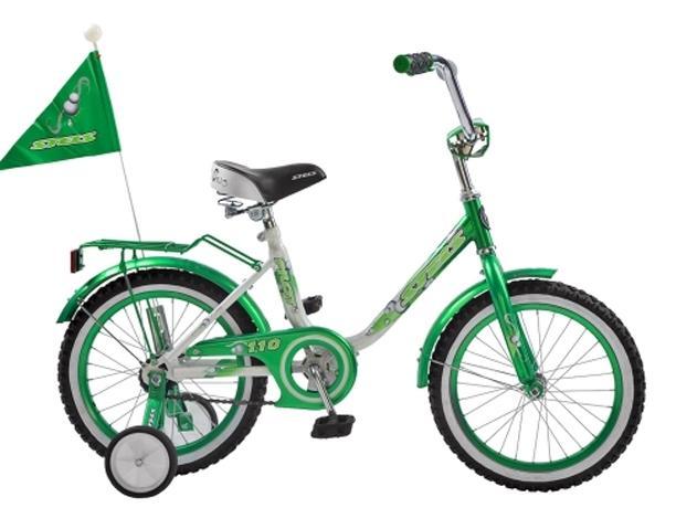 "Велосипед Stels 12"" Pilot-110 зад.нож.торм,багаж,выс.руль,дудка,рюкзак,флаг с упр.ручкой АКЦИЯ!"