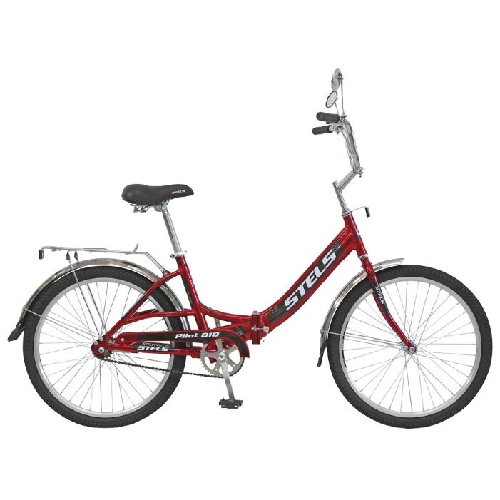 "Велосипед Stels 24"" складной Pilot-810  1-ск,алюм.рама,зад.нож.торм,багаж,звонок,насос АКЦИЯ!"