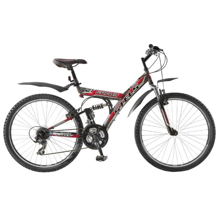 """Велосипед Stels 26"""" двухподвес Focus 21-ск,стал.рама,двойн.алюм.обода"""