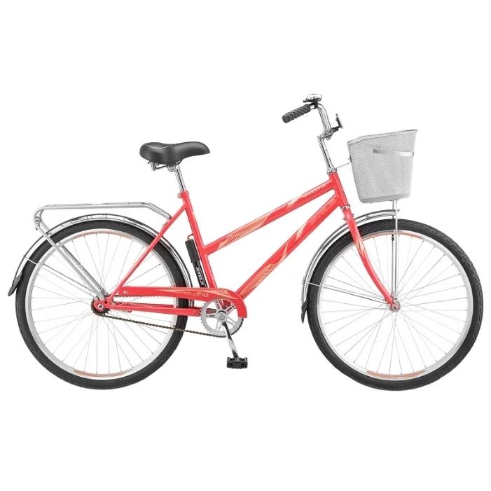 """Велосипед Stels 26"""" дорожный Navigator-210 Lady 1-ск,хром.руль,дв.алюм.обода,корз,звонок,насос"""