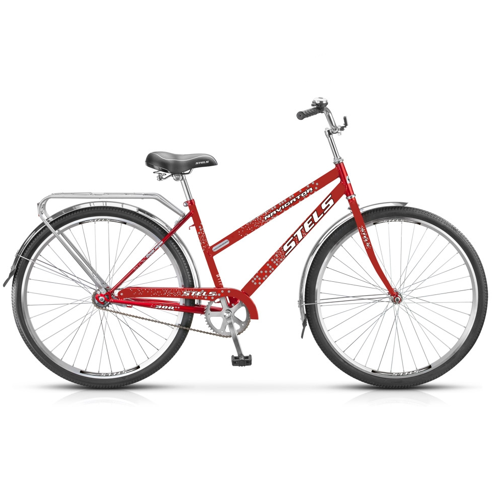 """Велосипед Stels 28"""" дорожный Navigator-300 Lady 1-ск,хром.руль,дв.алюм.обода,корз,звонок,насос"""