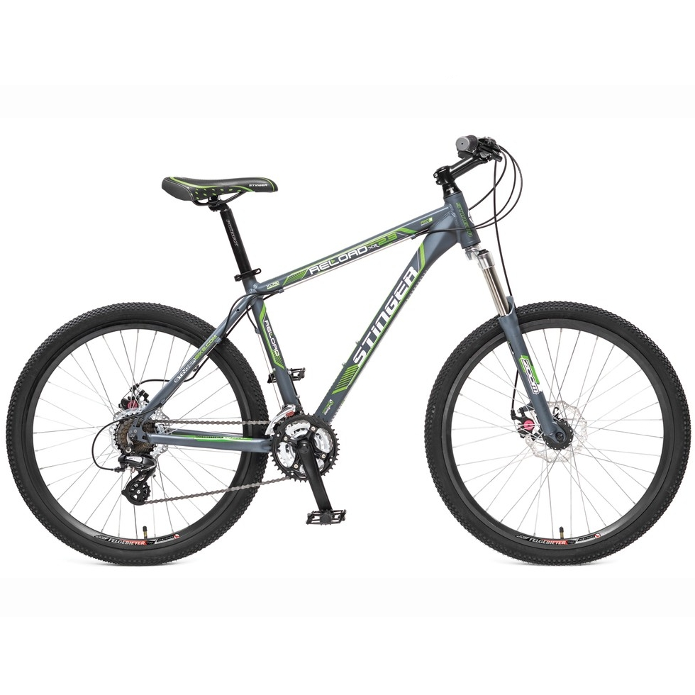 "Велосипед Stinger 26"" Х31320 Релоад XR' 2.3 алюм. 21ск. рама 18д. 2диск.торм. дв.обода серо-зелен"