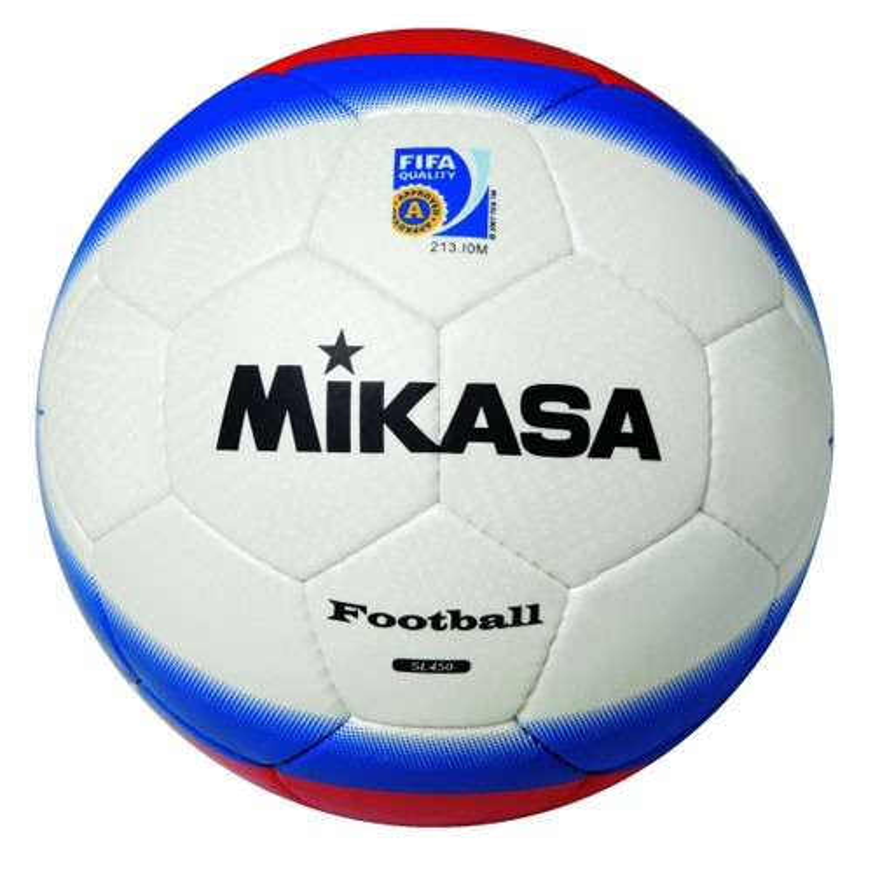 Мяч ф/б Микаса SL 450-WBR №5 синт.кожа шитый бело-крас-синий