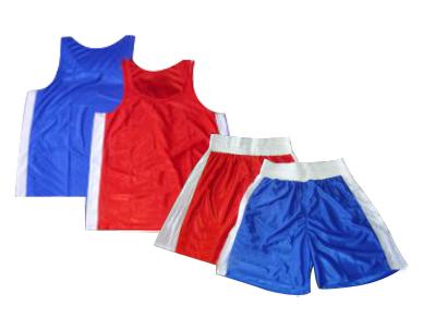Форма боксерская Россия (майка+трусы)  р. 84 (158 см) красная