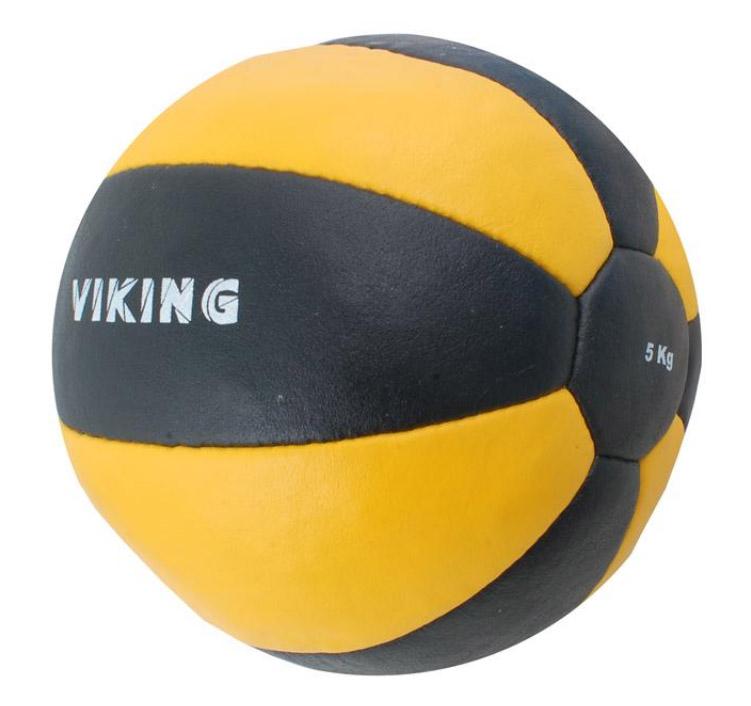 Мяч медбол Бествик 5 кг В2345-5 нат.кожа черно-желтый