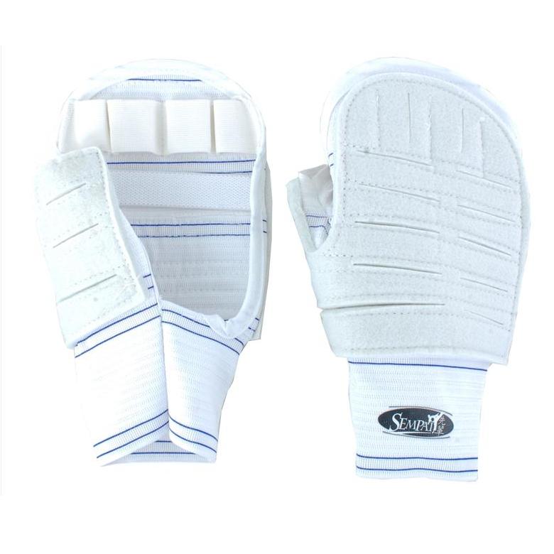 Накладки Sempai для кудо без пальцев S083 L/XL - W  белые
