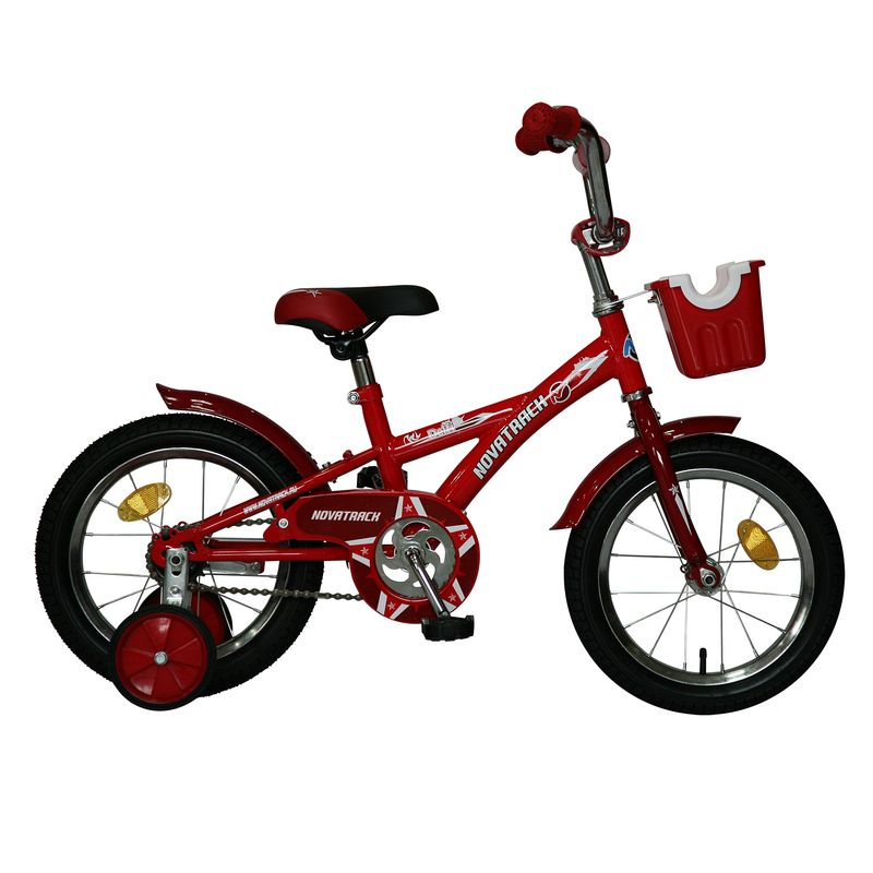 "Велосипед Novatrack 14"" Х44106 Delfi А-тип корот.крылья красн/бордовый"