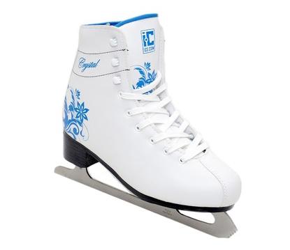 Коньки фигурные  Ice com CRISTAL белые р.35