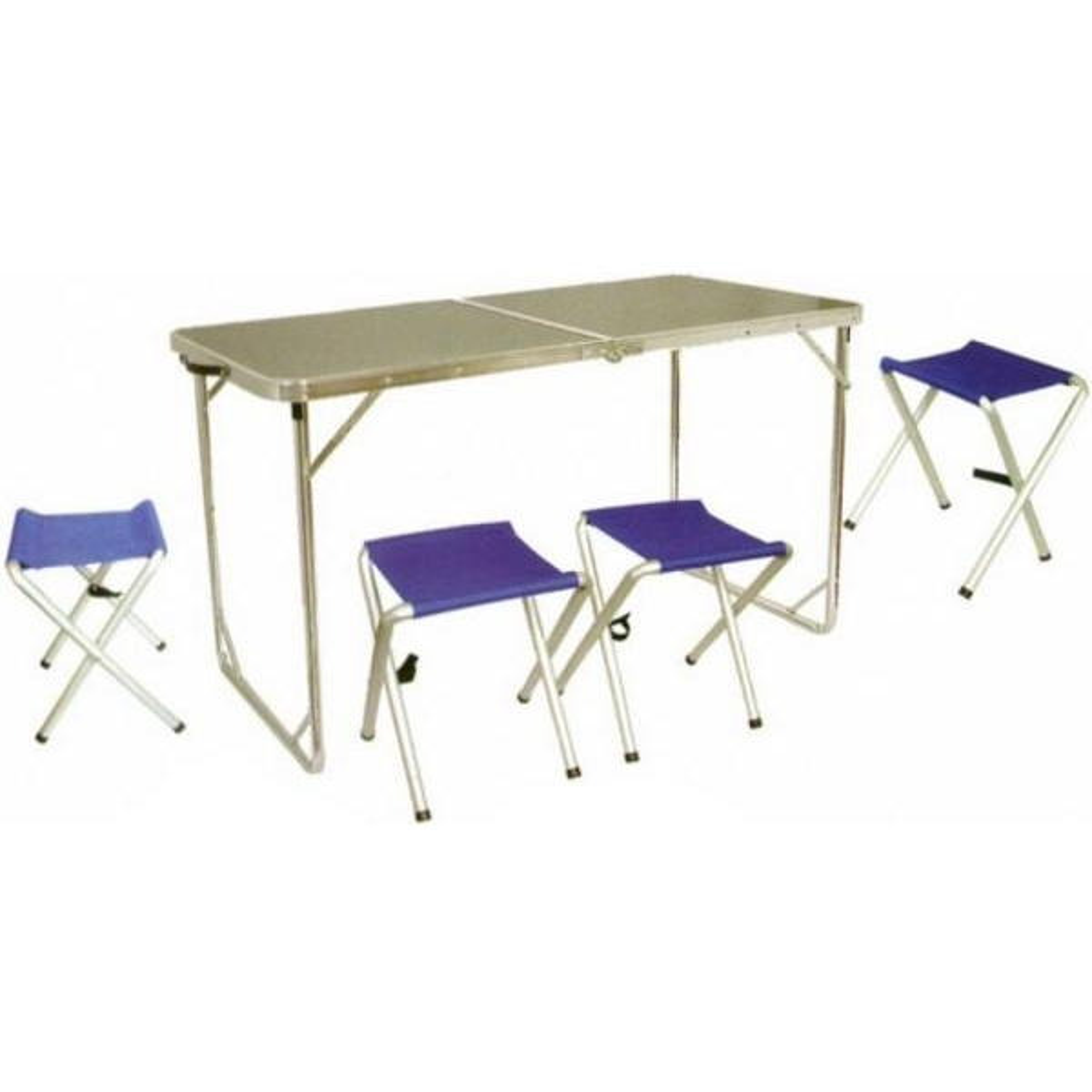 Мебель в кейсе Tramp TRF-005 стол МДФ/алюм 124*62*70см + 4 табурета УЦЕНКА!!!