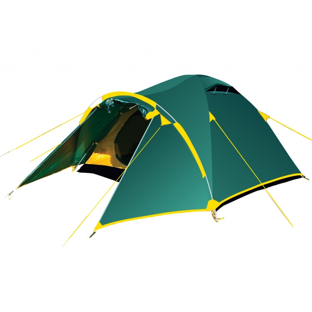 Палатка Tramp LAIR 3 арт. TRT-006.04 (двухсл, водост.5000мм, 370*220*130см,2 входа, тамбур 110см)