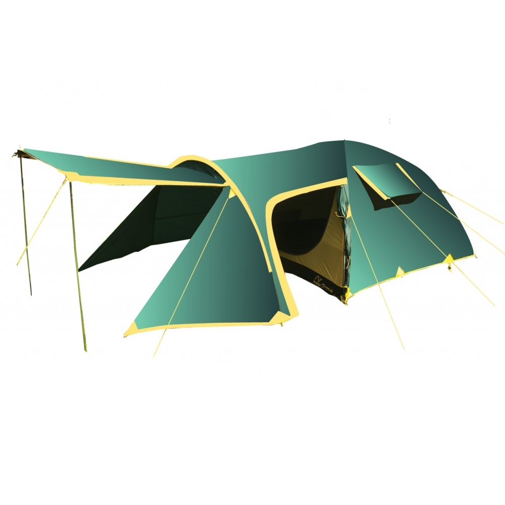 Палатка Tramp GROT-B 4 арт. TRT-009.04 (двухсл, водост.5000мм, 540*250*140см,3 входа, тамбур 200см)