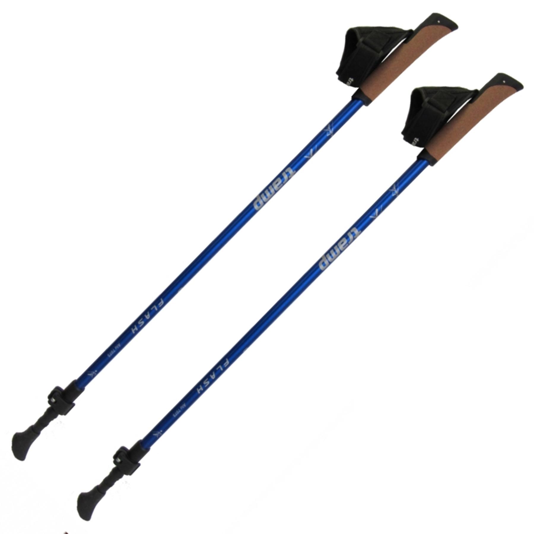Палки для скандинавской ходьбы Tramp Flash TRR-010 синие 84/135см