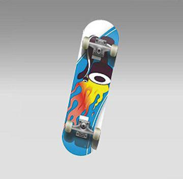 """Скейт MC-mini HOT WHEELS (22"""" китайс.клен 9 сл. композит.рама кол. 50 мм 608Z)"""