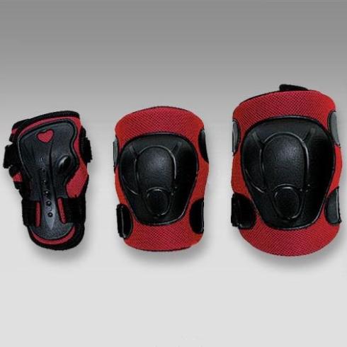 Комплект защиты роликовый MaxCity COLOR красный р-р S