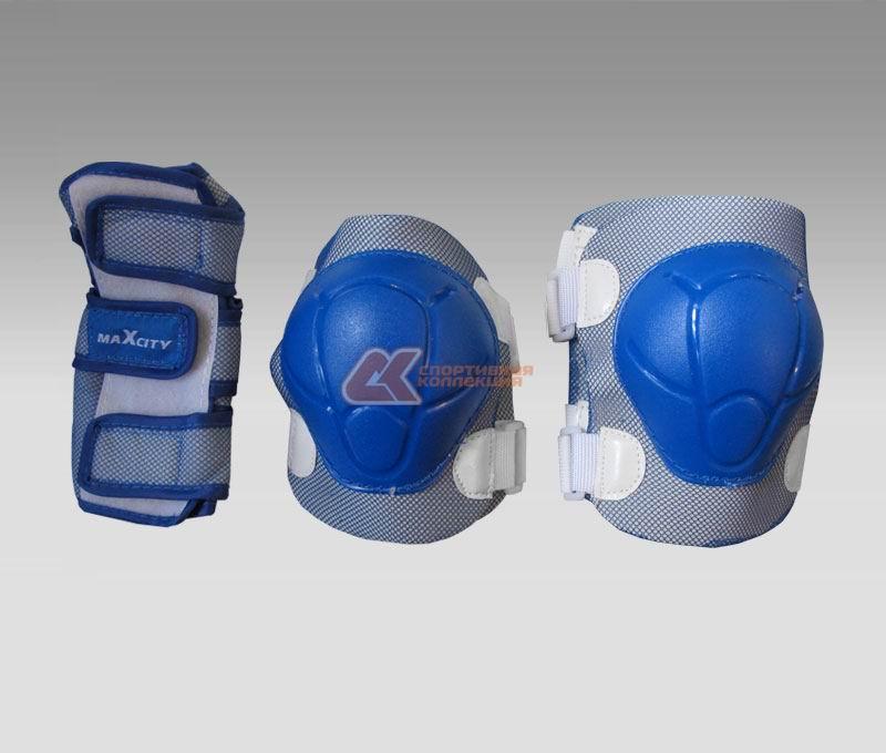 Комплект защиты роликовый MaxCity COLOR синий р-р L