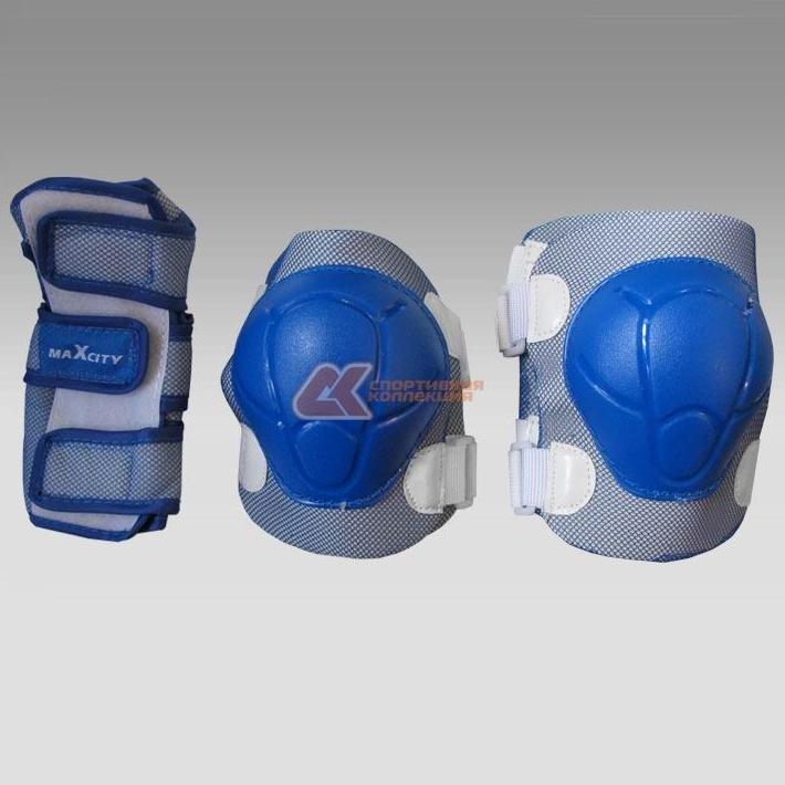 Комплект защиты роликовый MaxCity COLOR синий р-р S