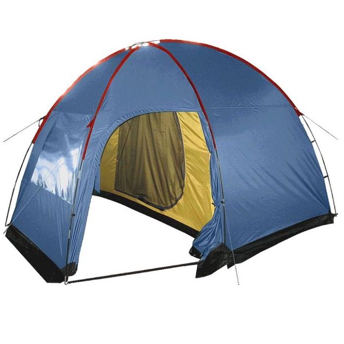 Палатка Sol ANCHOR 4 арт.SLT-032.06 (двухсл., водост.3000мм, 365*260*205мм,2 входа, тамбур 140 см)