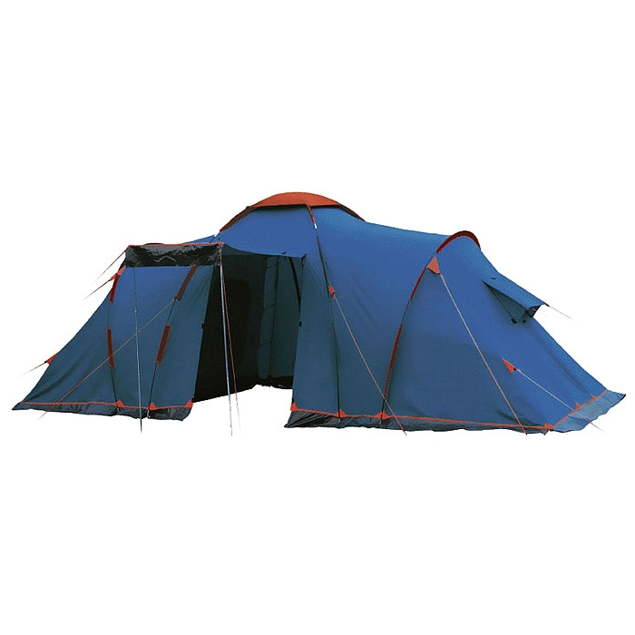 Палатка Sol CASTLE 6 арт.SLT-028.06 (двухсл, водост.3000мм, 585*220*200см, 2-х комн, тамбур 210см)